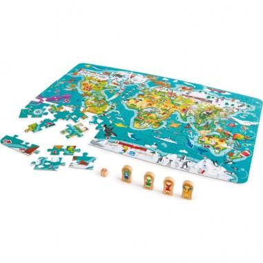 """Puzzle et jeu 2 en 1 """"Tour du Monde""""..."""
