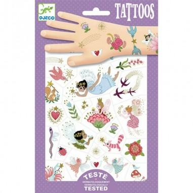 """Tatouages temporaires """"Fairy Friends""""..."""