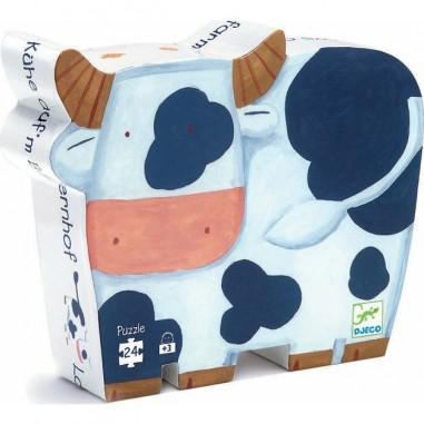 """Puzzle 24 pièces """"Les Vaches à la Ferme"""" - Djeco"""