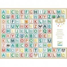 "Gommettes en volume ""Alphabet"" - Djeco"