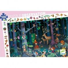 """Puzzle 100 pièces """"La forêt enchantée"""" - Djeco"""