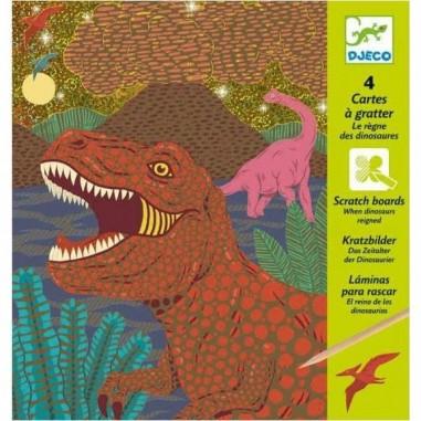 """Cartes à Gratter """"Le Règne des Dinosaures"""" - Djeco"""