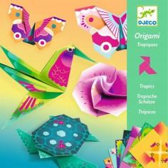 """Pochette d'activité créative Origami """"Tropiques"""" - Djeco"""