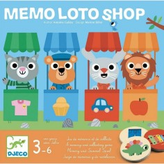 Jeu Mémo Loto Shop - Djeco