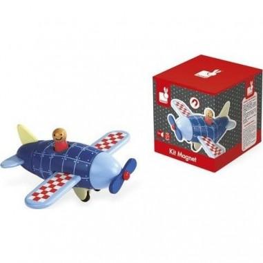 Avion en bois magnétique à assembler - Janod