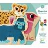 Magnets en bois animaux - Mixanimo - Djeco