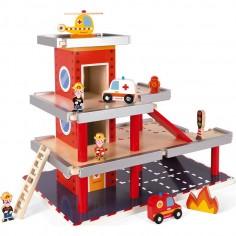 Caserne de Pompiers Garage en bois - Janod