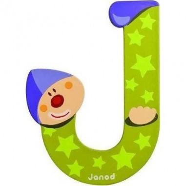 Lettre Bois Clown J - Janod