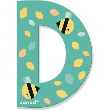 Lettre en bois D - Pure - Janod