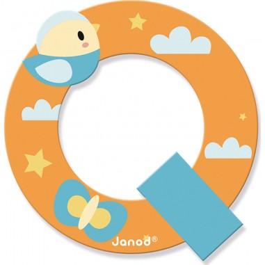 Lettre en bois Q - Pure - Janod