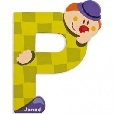 Lettre Bois Clown P - Janod