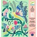 Cartes à gratter pastel Le Jardin Fabuleux - Djeco