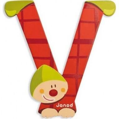 Lettre Bois Clown V - Janod