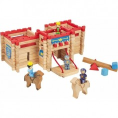 Chateau Fort en bois - 155 pieces - Jeujura