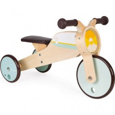 Tricycle évolutif 2 en 1 - Cheval à bascule - Draisienne - Janod