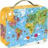 Puzzle éducatif géant carte du monde 300 Pièces - Janod