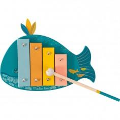 Xylophone pour enfant baleine - Le Voyage d'Olga - Moulin Roty