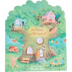 Cahier de coloriage avec autocollant - La Grande Famille - Moulin Roty
