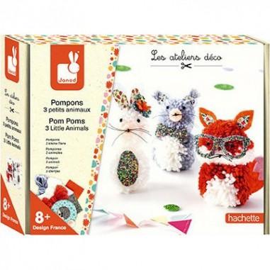 """Kit créatif """"Pompons 3 Petits..."""