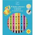 Pochettes de 10 Feutres pinceaux - Couleurs Pop - Djeco