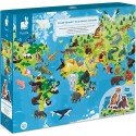 """Puzzle éducatif """"Les Animaux Menacés"""" - 200 Pièces - Janod"""