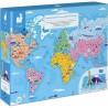 Puzzle Educatif- Les Curiosites Du Monde - 350 Pcs - Janod