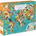 """Puzzle éducatif """"Les Dinosaures"""" - 200 Pcs - Janod"""