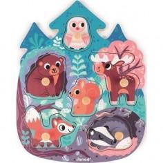 Puzzle en bois Premier âge - Happy Forest - Janod
