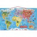 Puzzle Carte du Monde Magnétique - Janod