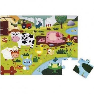 Puzzle tactile les animaux de la...