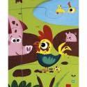 Puzzle tactile les animaux de la ferme - Janod
