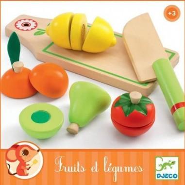 Fruits et Légumes en bois à couper -...